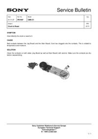 Manuale di servizio Sony CMD-Z1