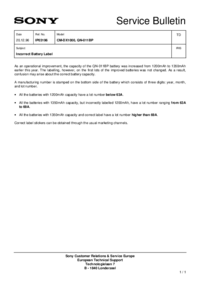Service Manual Sony QN-011BP