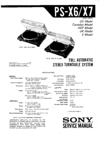 Manual de servicio Sony PS-X6