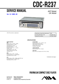 Manual de servicio Sony CDC-R237