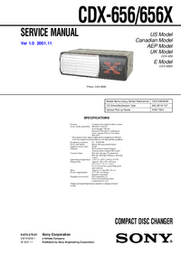 Manuale di servizio Sony CDX-656X