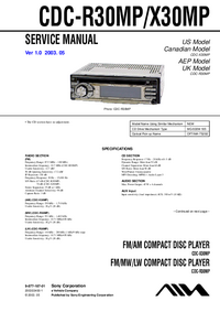 Manual de servicio Sony CDC-R30MP