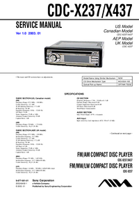 Service Manual Sony CDC-X237