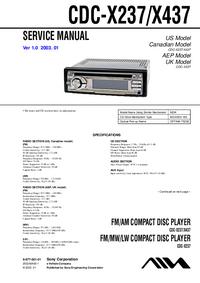 Manual de servicio Sony CDC-X437