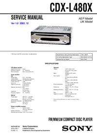 Manual de servicio Sony CDX-L480X