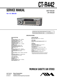 Service Manual Sony CT-R442