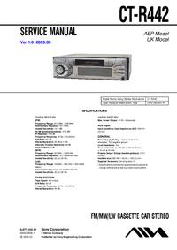 manuel de réparation Sony CT-R442
