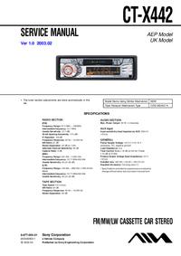 Service Manual Sony CT-X442
