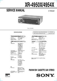 Service Manual Sony XR-4950X/4954X