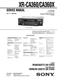Service Manual Sony XR-CA360