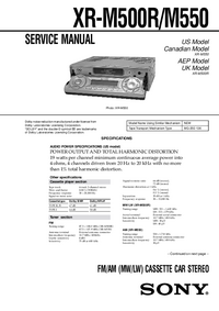 Service Manual Sony XR-M550