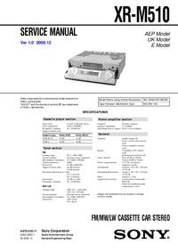 Servicehandboek Sony XR-M510