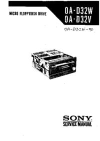 manuel de réparation Sony OA-D32W