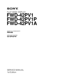 Manual de servicio Sony FWD-42PV1A