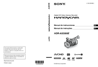 Manual del usuario Sony HDR-AX2000E