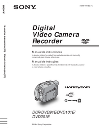 User Manual Sony DCR-DVD101E