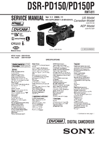Manual de servicio Sony DSR-PD150P