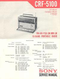 manuel de réparation Sony CRF-5100