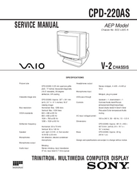 Servicehandboek Sony CPD-220AS