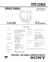 Manual de serviço Sony CPD-220AS