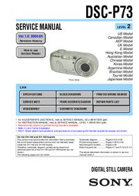 Manual de servicio Sony DSC-P73