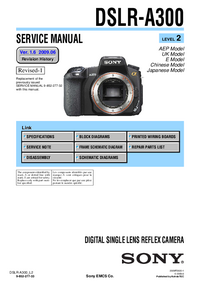 Service Manual Sony DSLR-A300