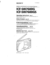 Manual del usuario Sony ICF-SW7600GS