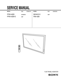 Service Manual Sony PFM-42B1E
