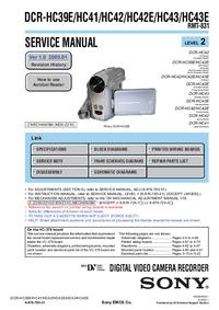 Руководство по техническому обслуживанию Sony DCR-HC43E
