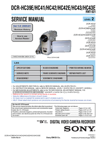 Servicehandboek Sony DCR-HC41