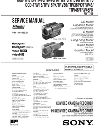 Manual de servicio Sony CCD-TRV36