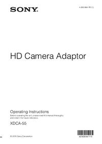 Gebruikershandleiding Sony XDCA-55