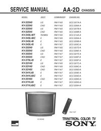 Servicehandboek Sony KV-32V65
