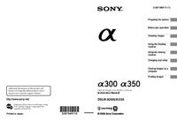 Manuel de l'utilisateur Sony DSLR-A300