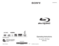 User Manual Sony BDP-S350