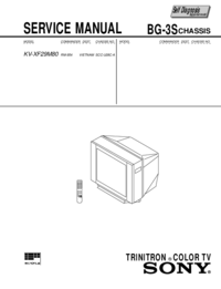 Service Manual Sony KV-XF29M80