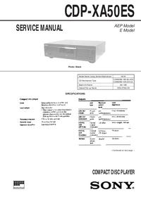 Manual de serviço Sony CDP-XA50ES