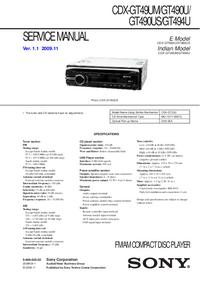 Manual de servicio Sony CDX-GT490U