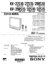 Service Manual Sony KV-29RS10
