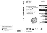 User Manual Sony DCR-DVD608