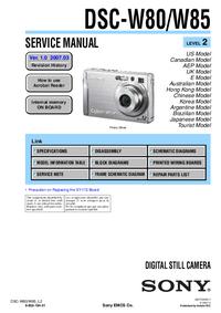 Instrukcja serwisowa Sony DSC-W80