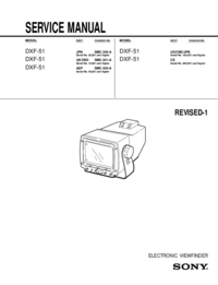 Service Manual Sony DXF-51