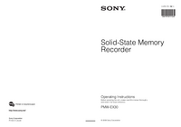 User Manual Sony PMW-EX30