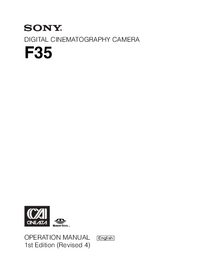 User Manual Sony F35