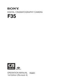 Manuel de l'utilisateur Sony F35