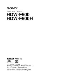Servicehandboek Sony HDW-F900