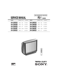 Servicehandboek Sony KV-25K5B