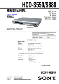 Manual de servicio Sony HCD-S550