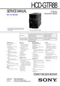 Manual de servicio Sony HCD-GTR88