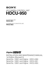 Servicehandboek Sony HKCU-951